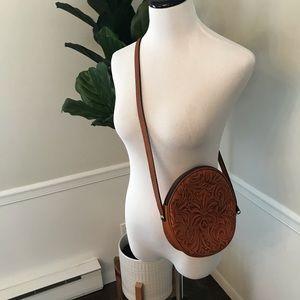 Patricia Nash Round Hammered Leather Crossbody